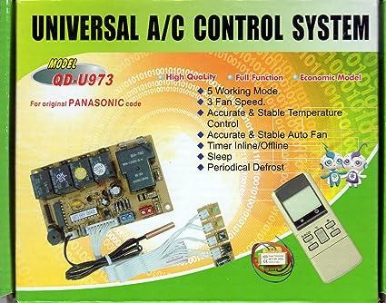 UNIVERSAL DUCTLESS MINI-SPLIT AC CONTROL SYSTEM W/REMOTE