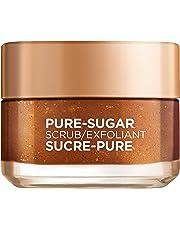 L'Oreal Paris Pure-Sugar Scrub with 3 Fine Sugars + Grapeseed, Face & Lips, For Dull Skin, 50 ml