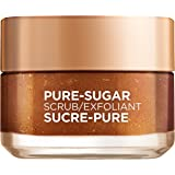 L'Oreal Paris Pure-sugar Brightening & Refreshing Face & Lip Scrub for Dull Skin, Grapeseed, 50ml