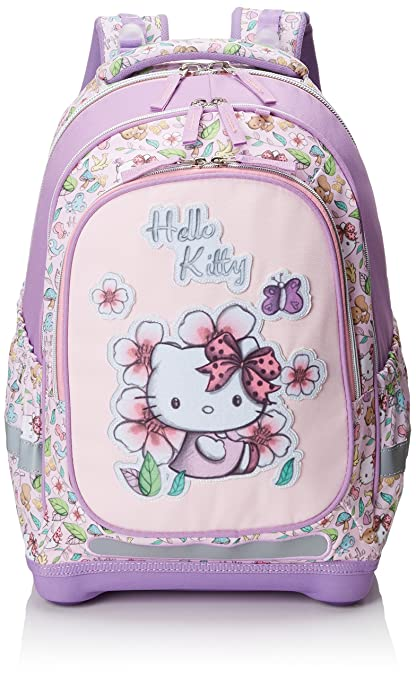 Target Hello Kitty Pencil Case Mochila Escolar, 45 cm, Morado (Purple/White