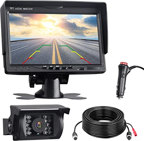 Toguard Rückfahrkamera Mit 7 Monitor 18 Ir Leds Elektronik
