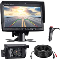 TOGUARD Backup Camera Kit, 7'' LCD Rear View Monitor with IP67 Waterproof Night Vision Back up Rearview Reverse Cam for…
