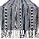 "DII CAMZ38886 Braided Cotton Table Runner Perfect for Summer, Holiday Parties and Everyday Use, 15x108"", Navy Blue"