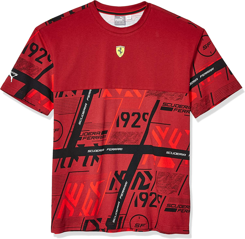 Puma Men S Scuderia Ferrari Street Tee T Shirt Amazon De Sport Freizeit