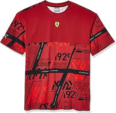 PUMA Scuderia Ferrari Street tee Camiseta para Hombre: Amazon.es: Ropa y accesorios