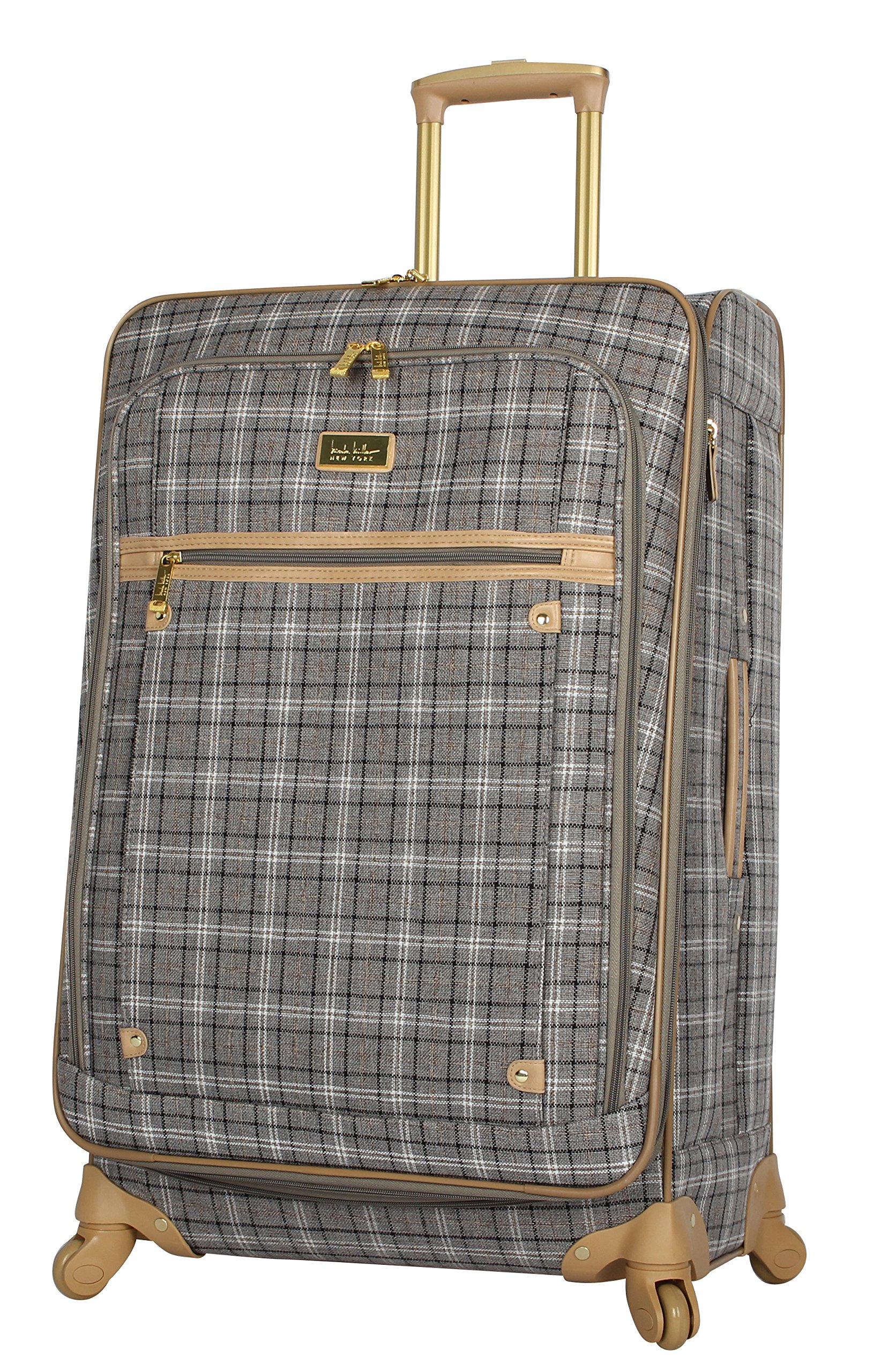 Nicole Miller New York Rosalie Collection 24'' Expandable Luggage Spinner (Gray)