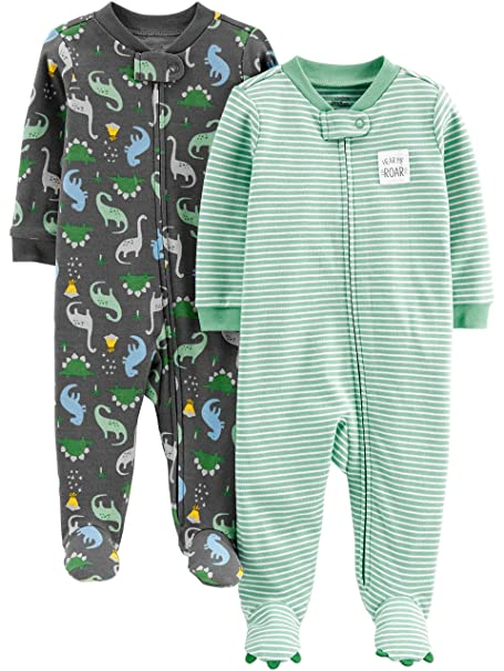 Amazon.com  Simple Joys by Carter s Baby Boys  2-Pack Cotton Footed ... 62b464583