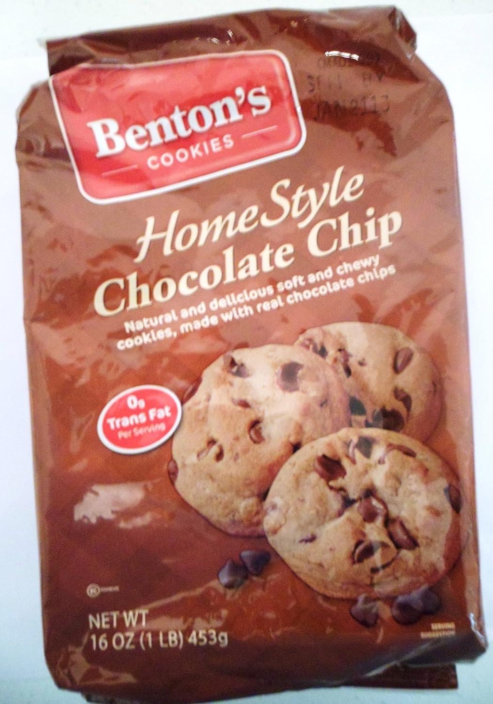 Amazon.com: Benton's Cookies Home Style Chocolate Chip Net Wt 16 ...