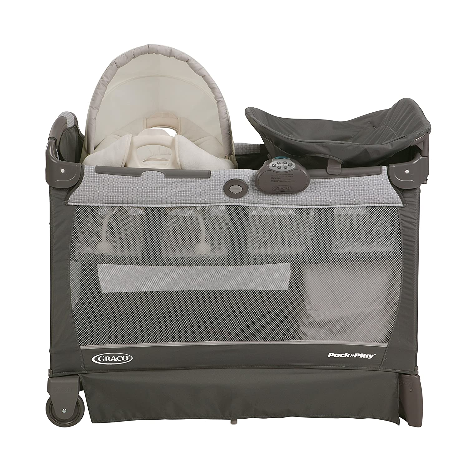 Graco Pack N Play Playard with Cuddle Cove Removable Seat Glacier
