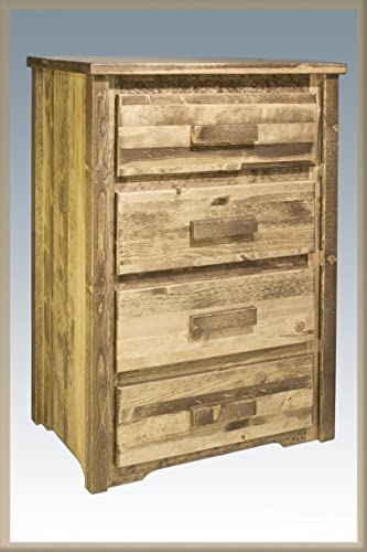 Montana Woodworks Chest – 4 Drawer Stained Lacquered