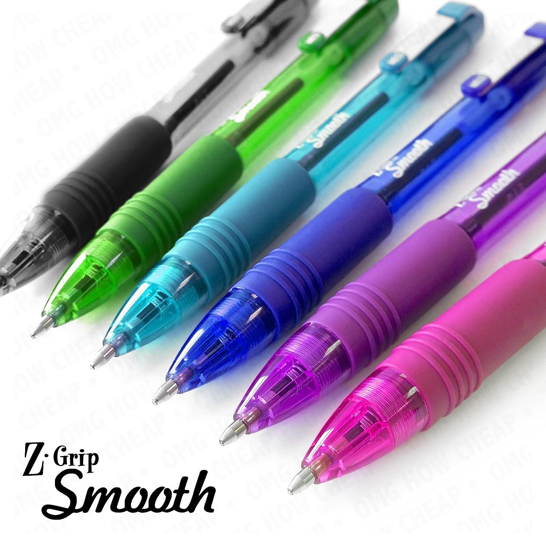 Zebra Z-Grip Smooth Retractable Ballpoint Pen Pack of 6 Black