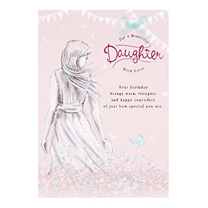 Hallmark Nice Verse Luxury Daughter Birthday Card QuotBeautiful Daughterquot