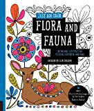Just Add Color Flora and Fauna: 30 Original Illustrations to Color, Customize, and Hang - Bonus Plus 4 Full-Color Images by Lisa Congdon Ready to Display!