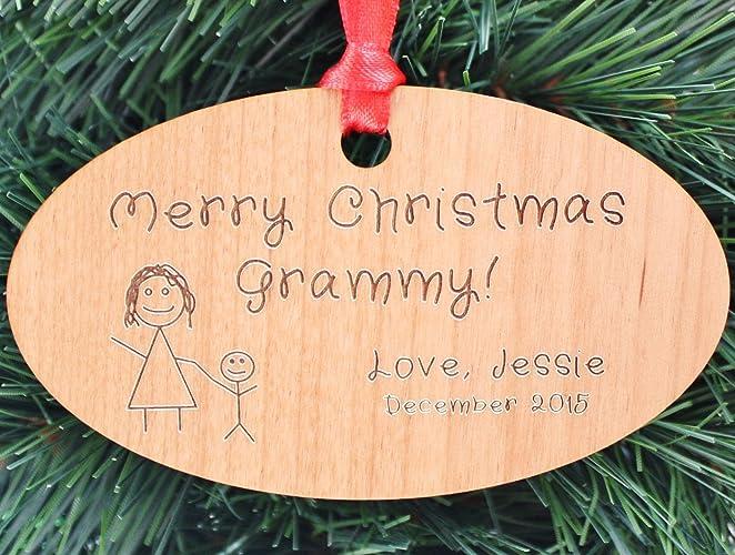 Custom Christmas Ornaments.Custom Christmas Ornament For Grandparent Grandma Mom Handmade Christmas Ornaments Orn22