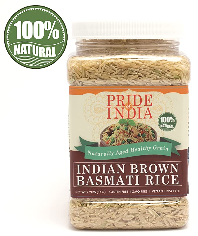 El orgullo de la India - Extra Largo Brown arroz basmati indio ...