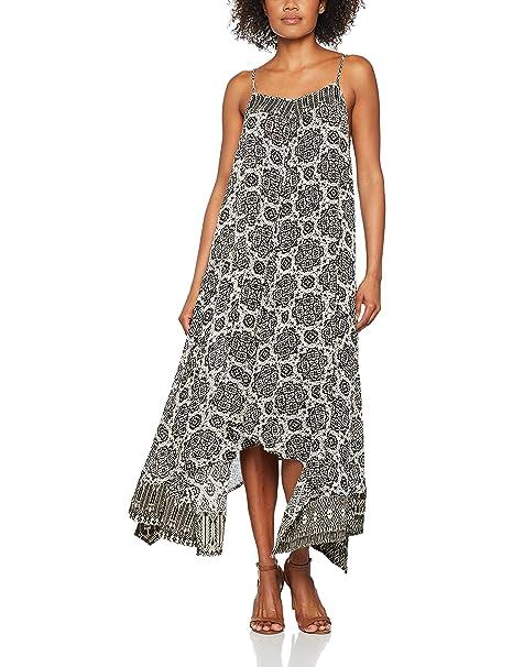 Trucco RT20BR10000, Vestido Casual para Mujer, Negro, Large (Tamaño del Fabricante: