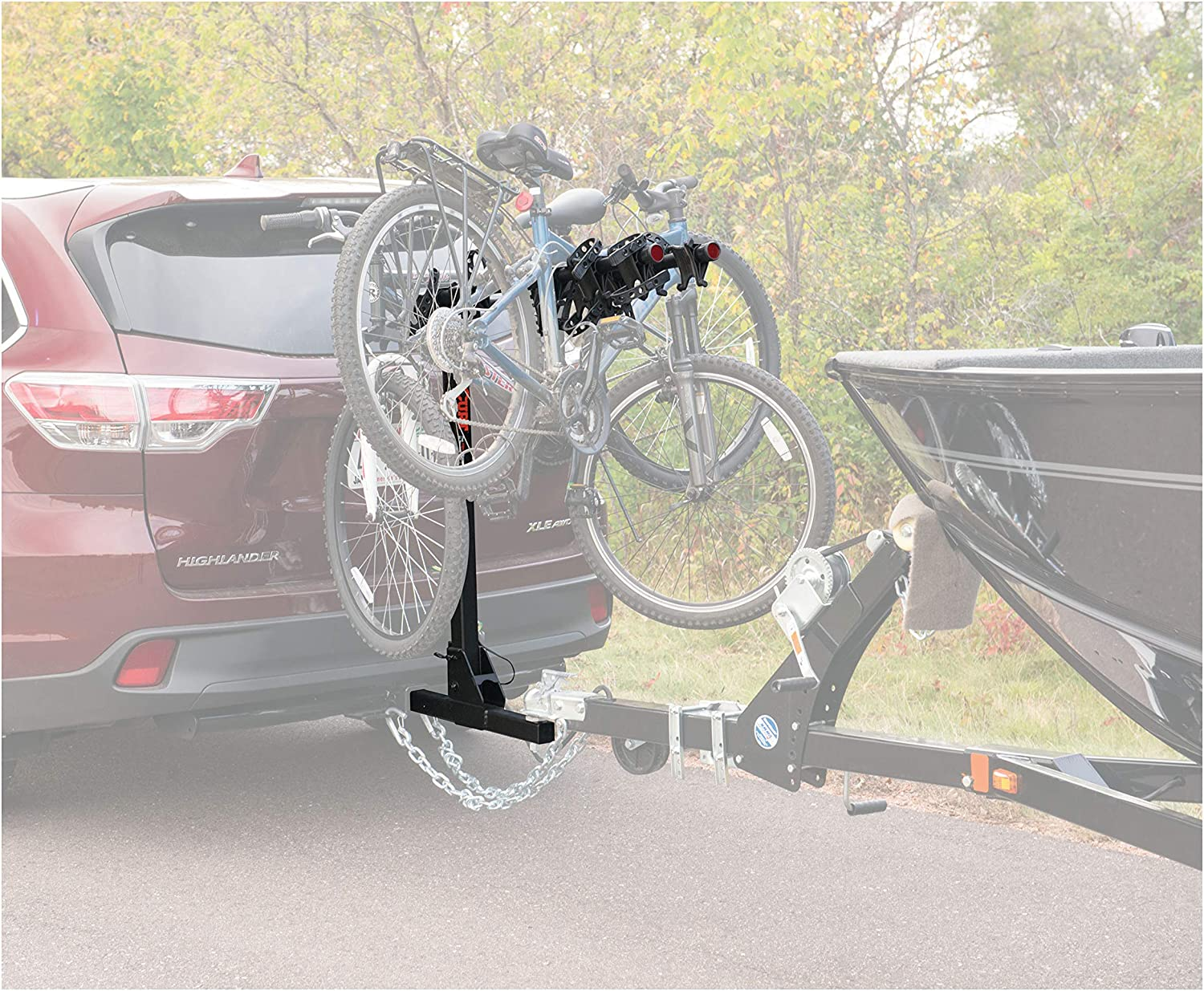 CURT 18035 Towable Trailer Hitch Bike Rack Mount Fits 2-Inch Receiver 2,000 lbs 4 Bicycles
