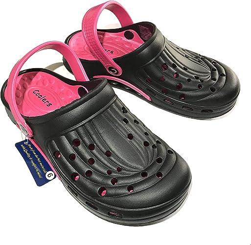 Coolers' Ladies Black Clogs Orthopaedic