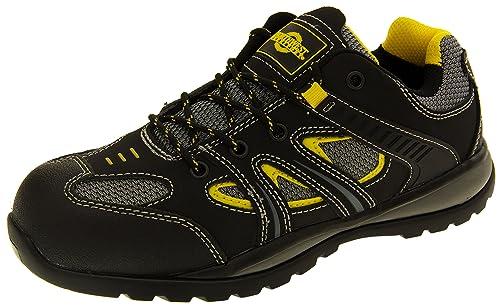 Northwest Territory Hombre Cuero Negro Zapatos De Puntera De Seguridad De Cuero EU 44 oODHMvO