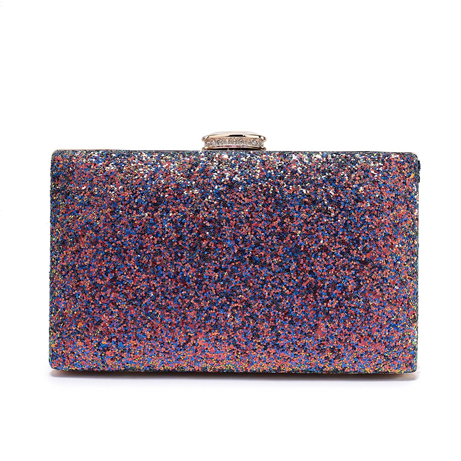 Minicastle Sparkling Clutch Purse Elegant Glitter Evening Bags Bling Evening Handbag For Dance Wedding Party Prom Bride (並行輸入品) B07CZCNFS7 パープル One Size