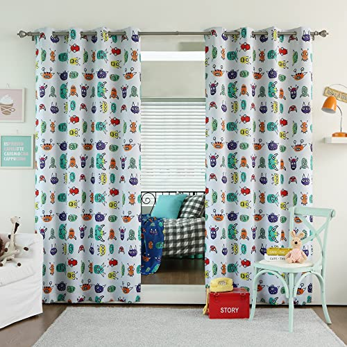 Best Home Fashion Room Darkening Monster Print Curtain
