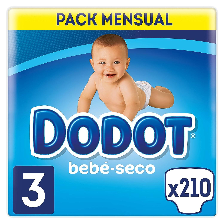 Dodot Bebé-Seco - Pañales Talla 3 Con Canales De Aire, 6-10 kg - 210 Pañales Procter & Gamble