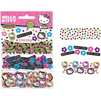 cae5d0852 Amazon.com: Hello Kitty 'Neon Tween' Confetti Value Pack (3 types): Toys &  Games