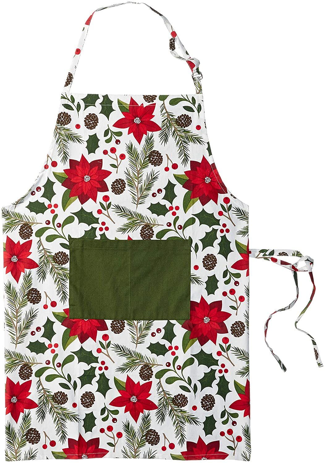 fdfb83cfc5bf DII Cotton Adjustable Christmas Holiday Kitchen Apron with Pocket and Extra  Long Ties, Men & Women Chef Apron for Cooking, Baking, Crafting,  BBQ-Woodland