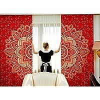 Indian Bohemian Window Hanging Tapestry Ethnic Panels Mandala Curtains Home Decor Hippie Drape Cotton Window Treatment