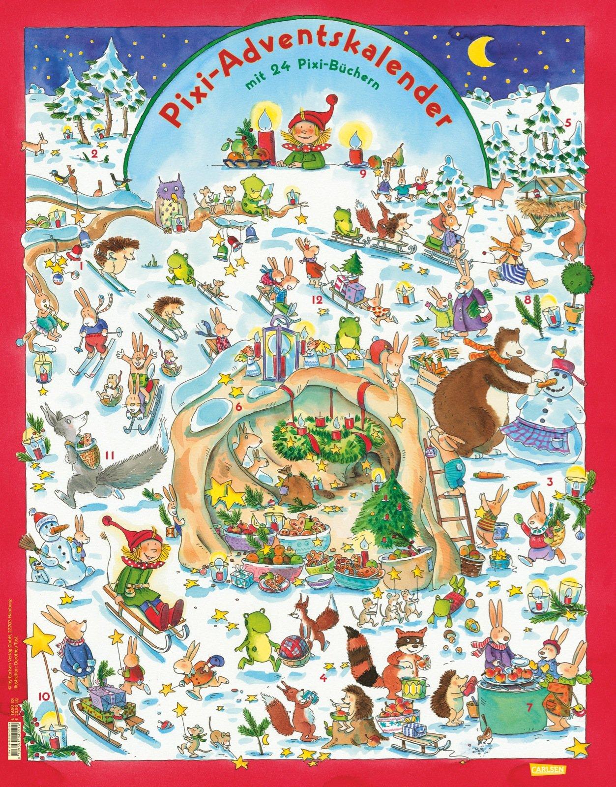 Pixi Adventskalender: Wendekalender mit 24 Pixi-Büchern ...