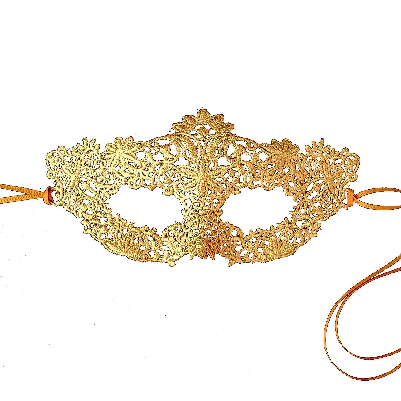 Samantha Peach Gorgeous Gold Coachella Lace Masquerade Mask: Amazon.co.uk: Toys & Games