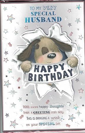 Husband Birthday Card Wishing My Wonderful Husband Happy Birthday