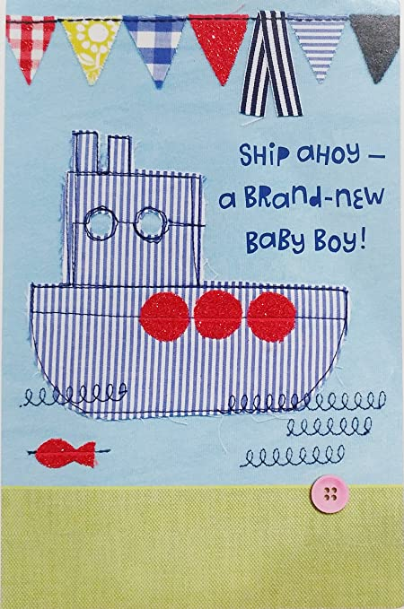 Amazon ship ahoy a brand new baby boy greeting card ship ahoy a brand new baby boy greeting card congratulations on your new m4hsunfo