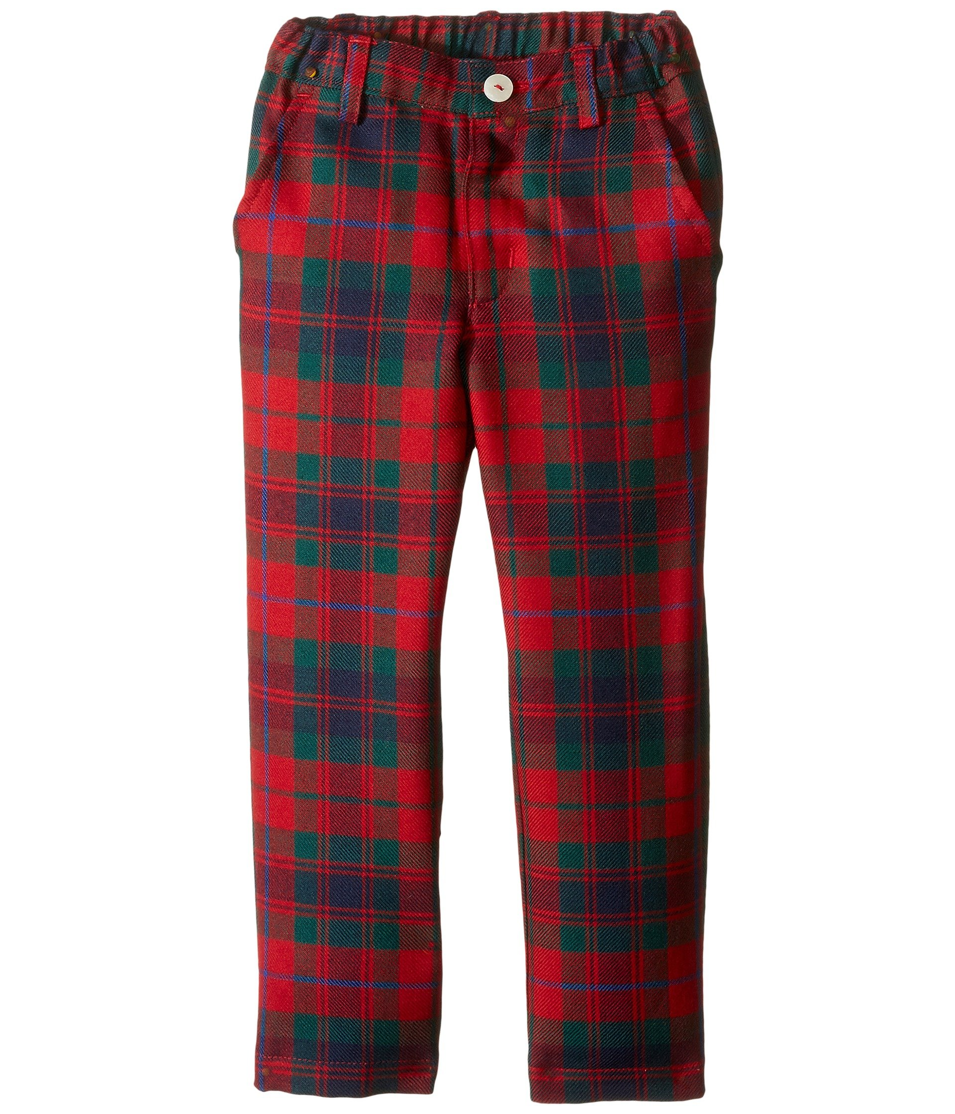 Oscar de la Renta Childrenswear Baby Boy's Holiday Plaid Wool Classic Slim Pants (Toddler/Little Kids/Big Kids) Ruby Multi Pants