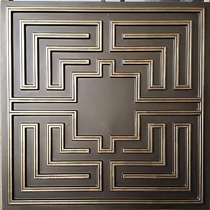 Amazon.com: Estaño techo diseño clásico latón envejecido ...