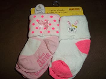 Carters Precious Firsts Girls Bunny Socks 6-12 Months