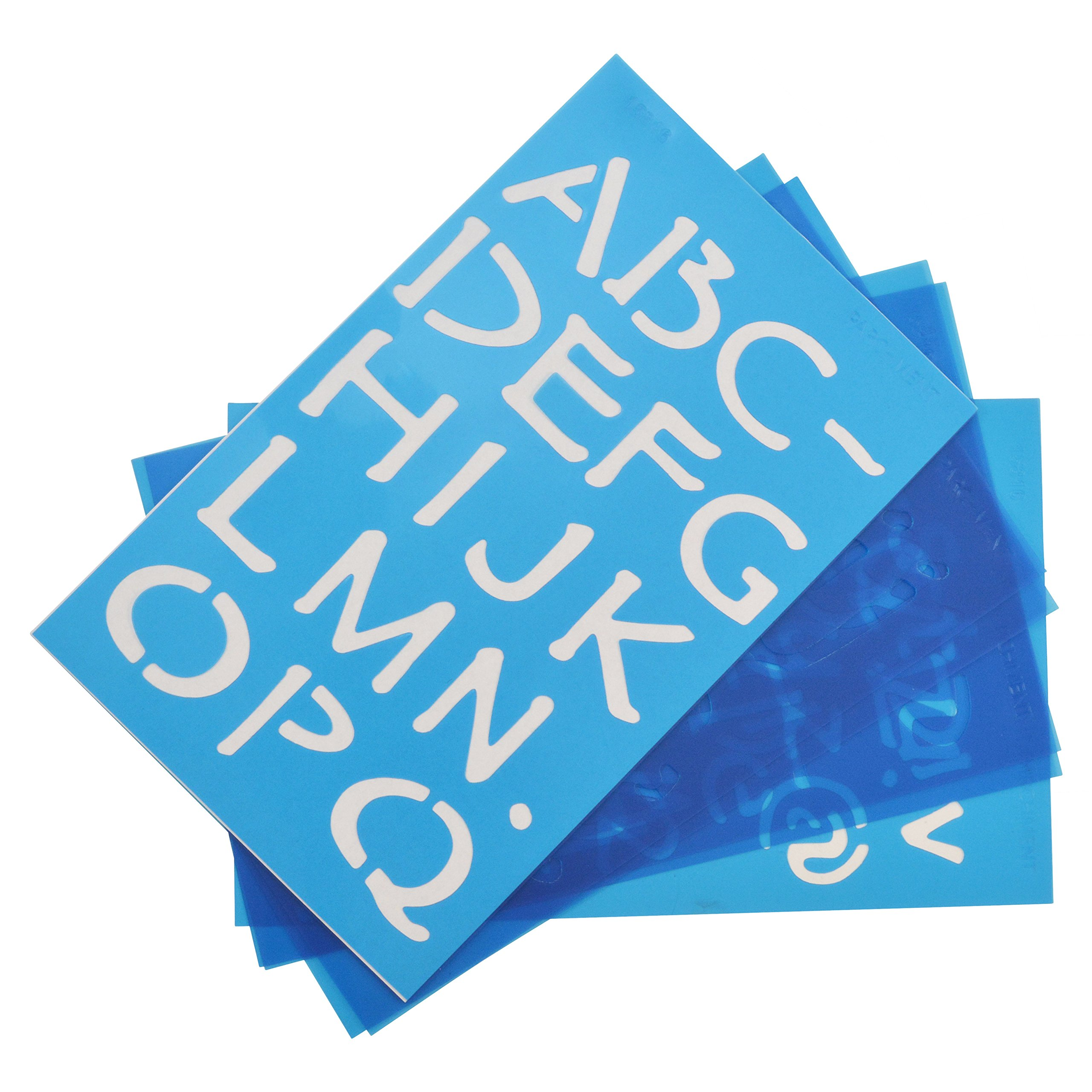 And Punctuation Symbols Numbers CR-71027 ToolUSA 8 Piece Stencils For 4 Inch Letters