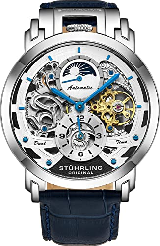 Amazon.com: Stuhrling Orignal Mens Watch Automatic Watch Skeleton Watches  for Men - Leather Luxury Dress Watch - Mechanical Watch Stainless Steel  Case Self Winding Analog Watch for Men: Watches