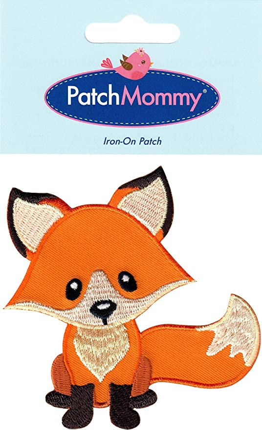 Patch Iron-On Fox Coffee Cup Tea Cup Embroidery Applique Animal
