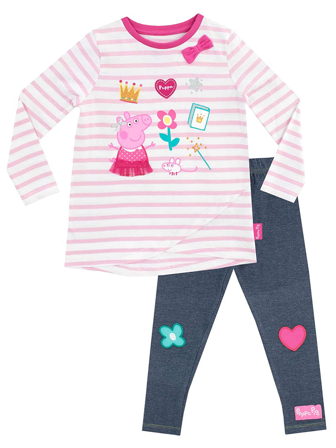 Peppa Pig Girls' Peppa T-shirt and Leggings