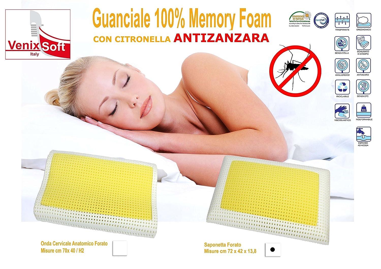 Par de cojines almohadas VENIXSOFT en espuma de momoria termosensible, con microagujeros para una mayor transpiración, con propiedades para mantener ...