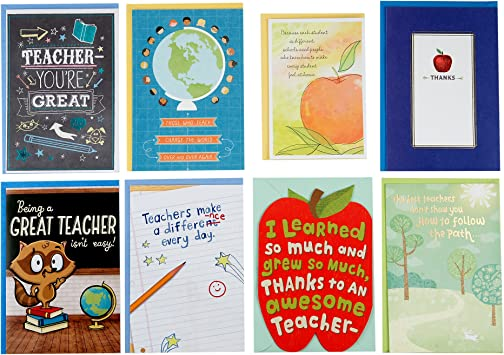 Wondrous Amazon Com Hallmark Teacher Appreciation Card Assortment For Day Funny Birthday Cards Online Fluifree Goldxyz