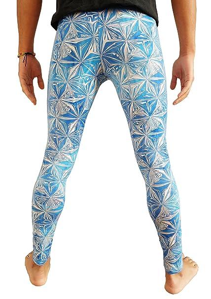 Amazon.com: madwag holográfica mallas para hombre azul plata ...