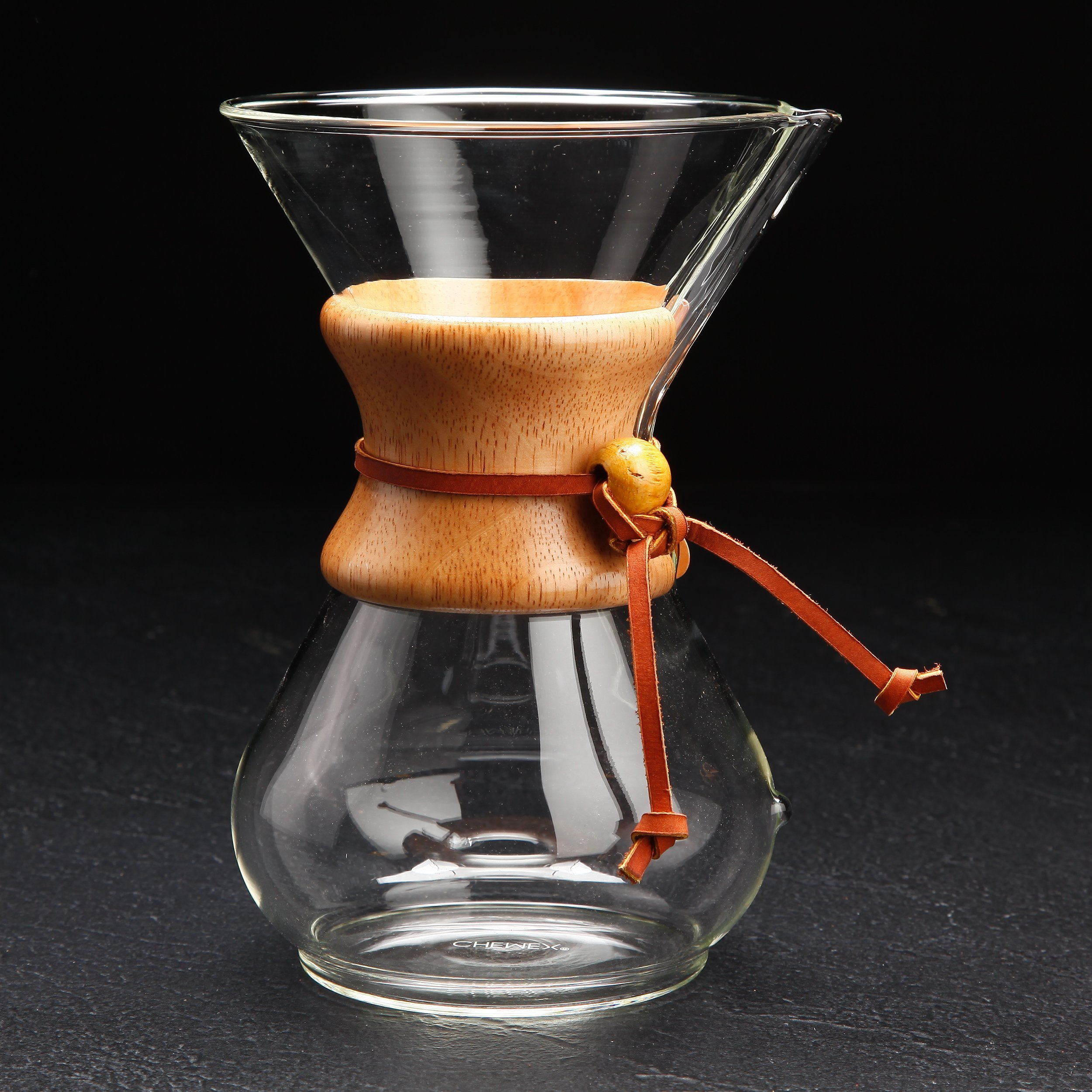 Pour Over Coffee Maker   Classic Hand Drip Brewer for Paper Filter   Hand Crafted Strong Borosilicate Glass with Lid, Easy Clean and Better Coffee by LePrem (Image #7)