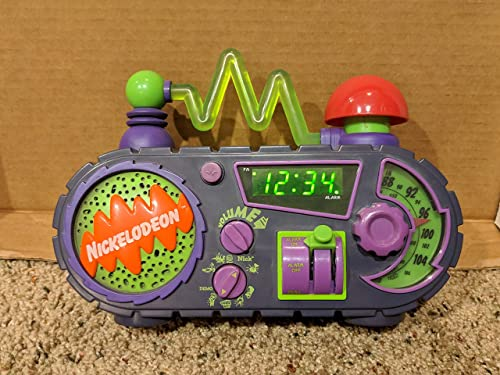 Nickelodeon Time Blaster AM FM Alarm Clock Radio