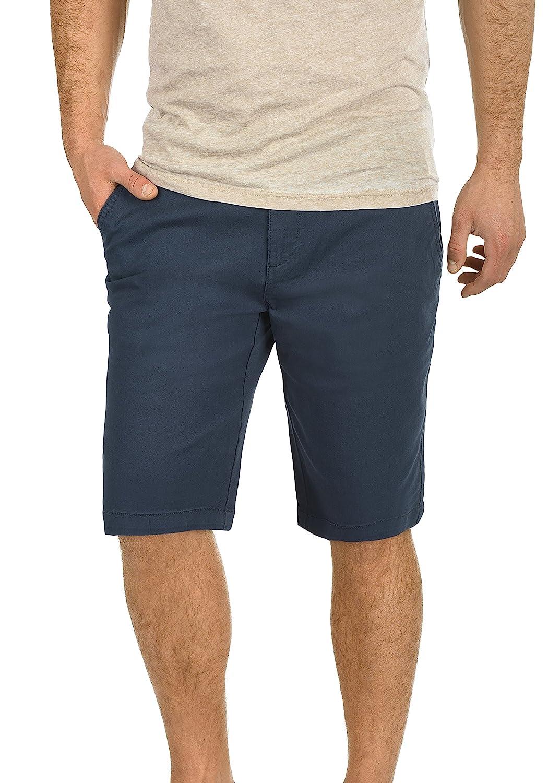 TALLA L. !Solid Lamego Chino Pantalón Corto Bermuda Pantalones De Tela para Hombre Elástico Regular-Fit