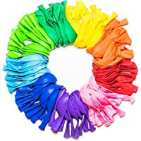 Dusico® Balloons Rainbow Set (100 Pack) 12 Inches, Assorted Bright Colors, Made With Strong Multicolored Latex, For…