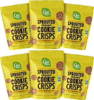 product image for Go Raw Snacks, Sprouted Superfood Cookie Crisps, Lemon Pie (pack of 6 x 3oz bags) — Gluten Free | Vegan | Natural | Organic