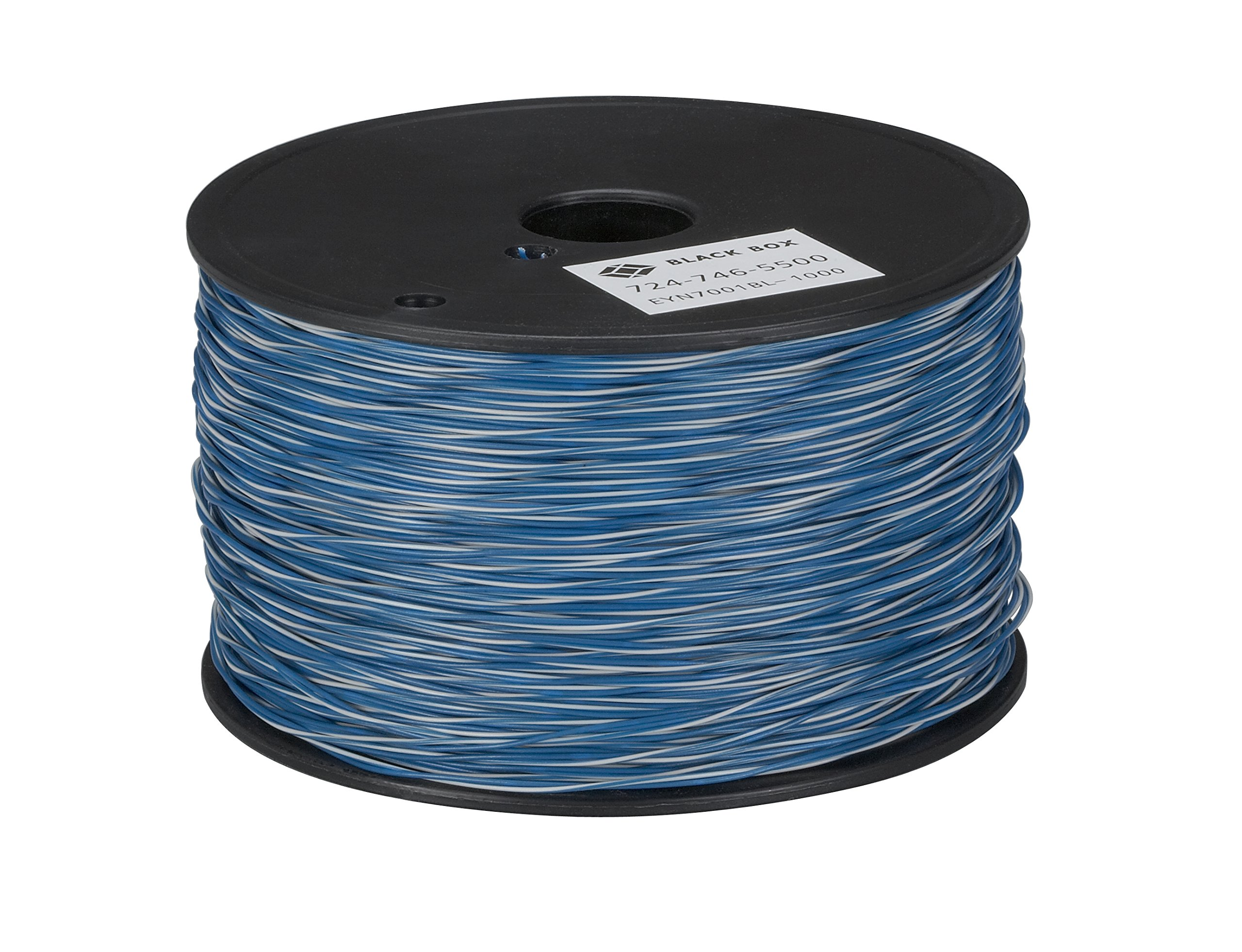 Black Box Cross-Connect Wire 1-Pair White/Blue with Blue 1000-ft. Spool