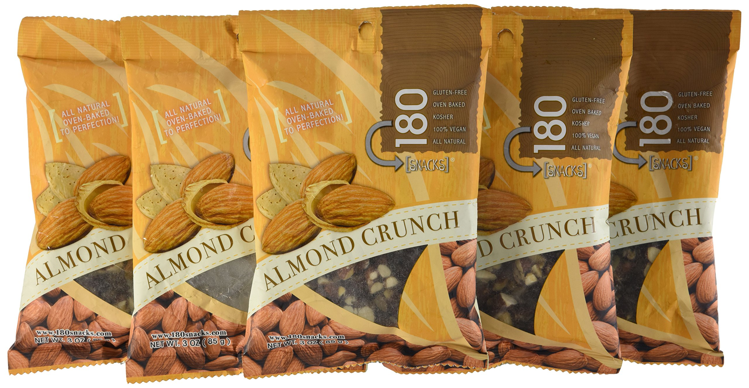 Mareblu Naturals Almond Crunch, 3-Ounce Pouches (Pack of 8)